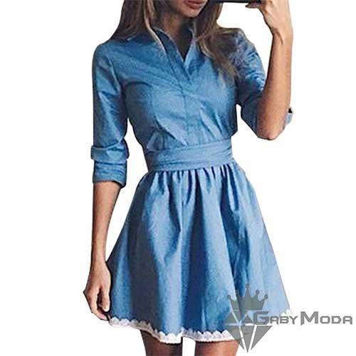 4e0919f187e Дамска дънкова рокля - GabyModa