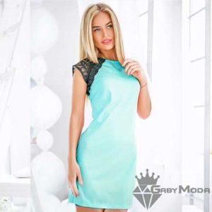 Летни рокли в светлозелен цвят 1