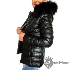 Дамски зимни кожени якета