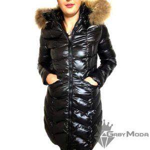 Дамски дълги зимни якета с качулка от естествен косъм