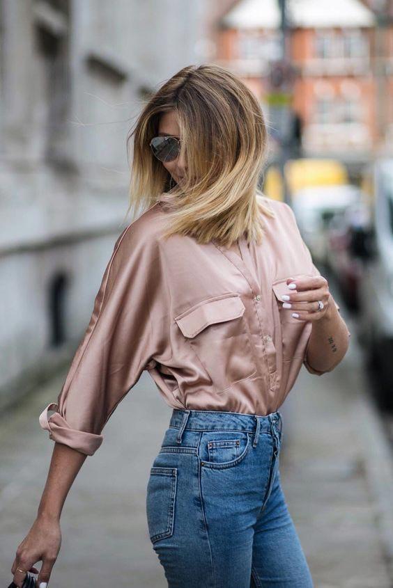 Копринени дамски блузи