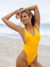 Жълт дамски бански 1